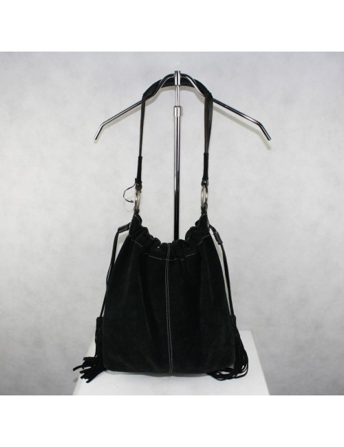 LUCKY BRAND black leather tote bag