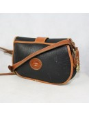DOONEY & BOURKE vintage black and brown padded leather cross body bag