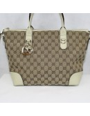 GUCCI heart bit canvas tote bag