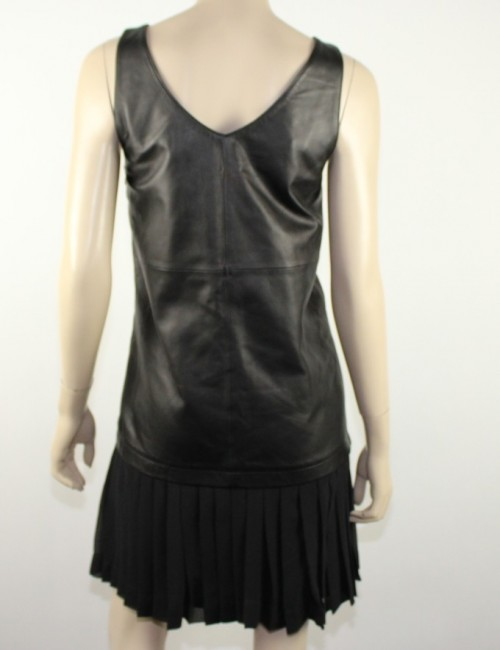 ELIZABETH AND JAMES leather black dress (10)