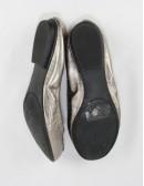 TAHARI Varsity leather ballet -flat