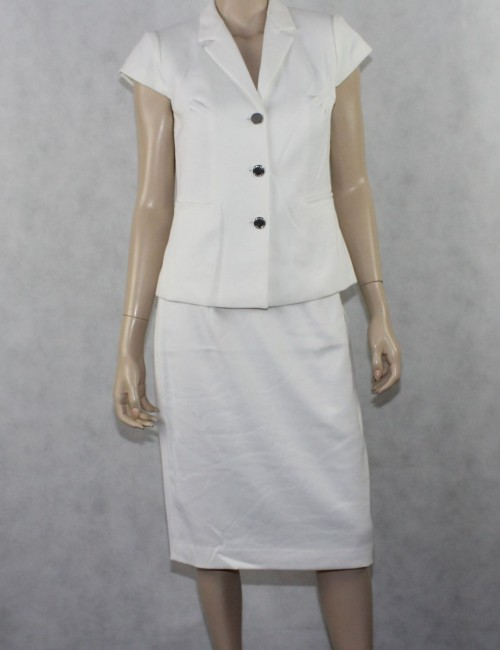 CALVIN KLEIN womens white skirt suit (8)
