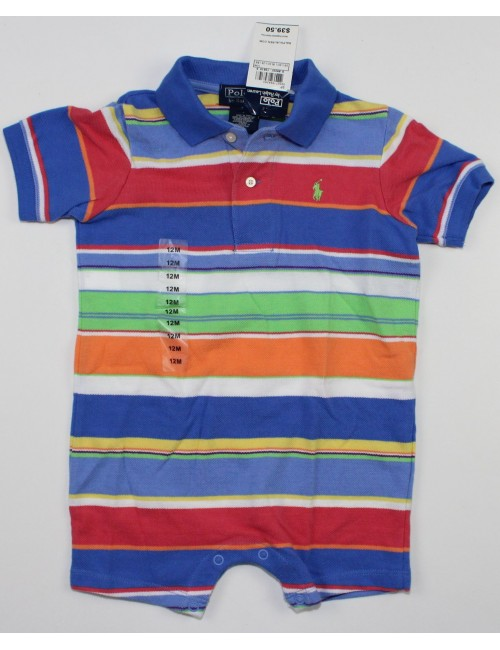 RALPH LAUREN baby 1PC polo onsie (12m)
