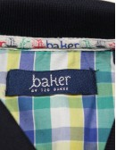 TED BAKER navy blue polo shirt (7-8)