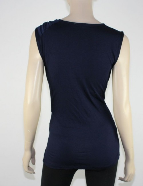 VINCE CAMUTO navy blue sleveless top (L)