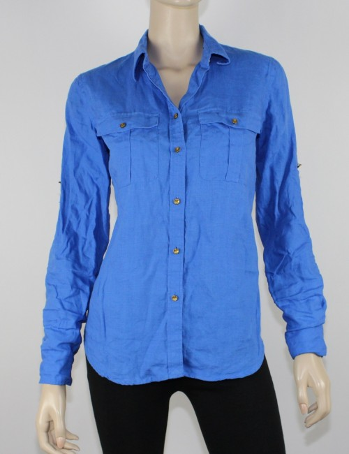 LAUREN RALPH LAUREN button down linien shirt (S)