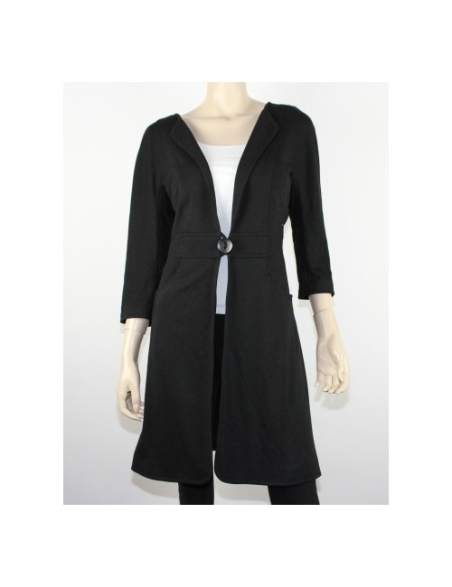 MAX STUDIO womens light black coat/blazer (L)
