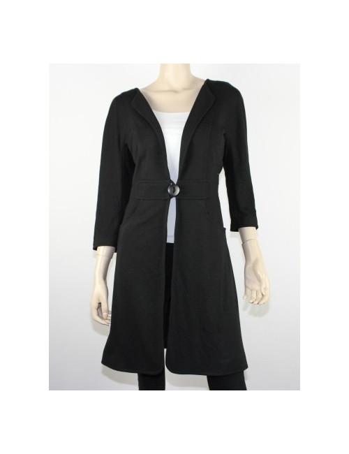 MAX STUDIO womens light black coat/blazer (L)