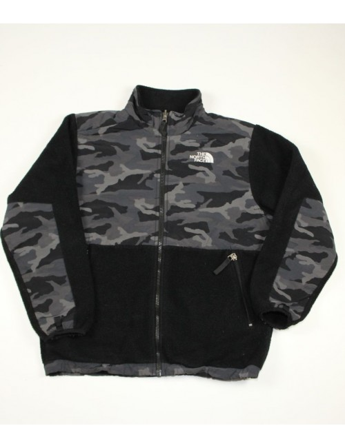 THE NORTH FACE boys Denali Jacket in black camo (L) AAXB