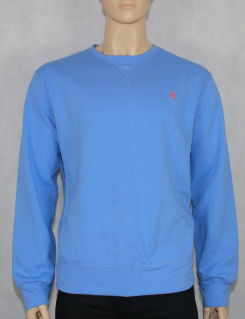 POLO By RALPH LAUREN mens sky blue sweatshirt