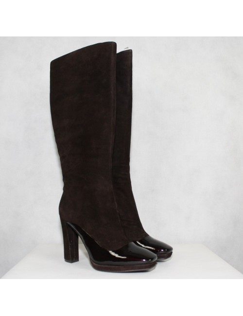 CARLO PAZOLINI womens dark brown knee high heel boots