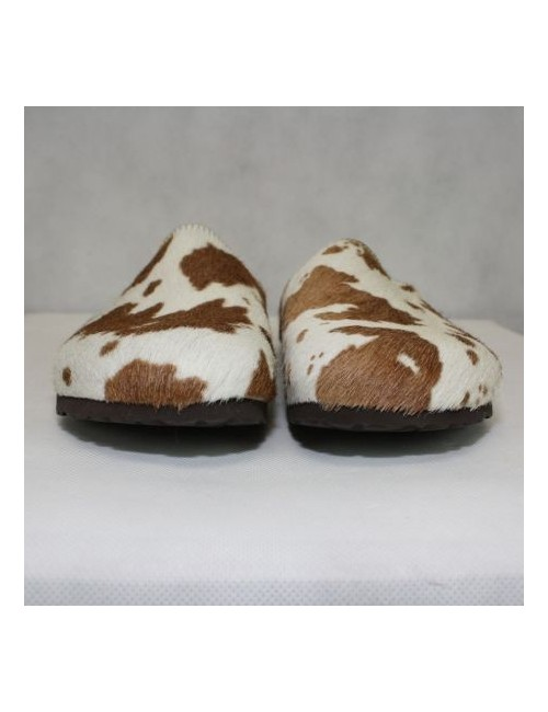BIRKIS womens real cow hair print clogs