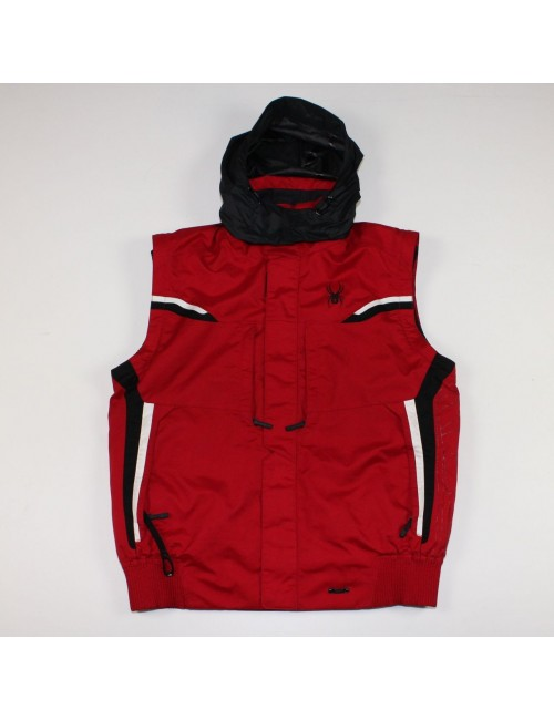 SPYDER mens red insulated ski vest!