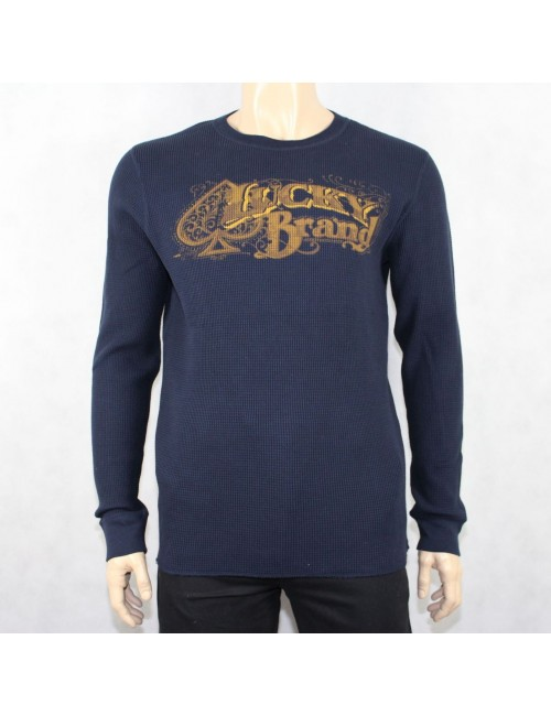 LUCKY BRAND Men's 100% Navy Cotton Shirt! (XL) NWT