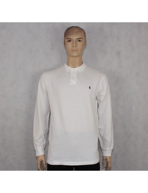 POLO by RALPH LAUREN mens white long sleeve polo shirt