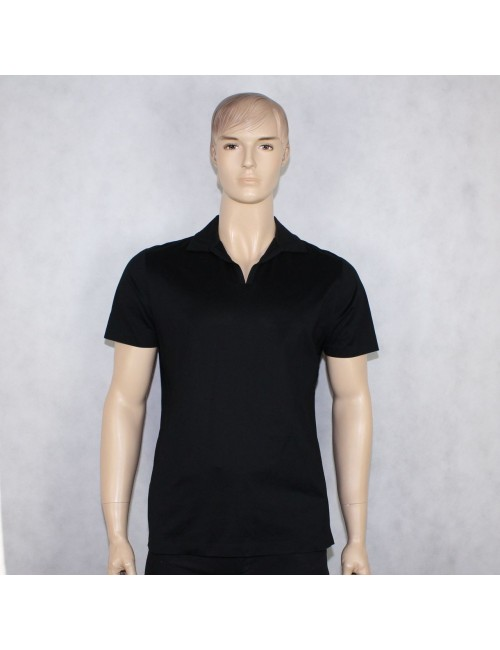 BOSS HUGO BOSS mens black polo shirt MADE IN ITALY