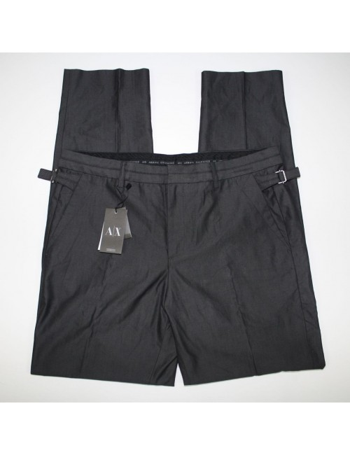 A/X ARMANI EXCHANGE mens charcoal slim cotton pants