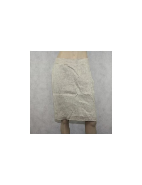 Brooks Brothers Beige Linen Woman Skirt Size 6