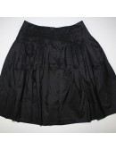TALBOTS womens black a line SILK skirt (12)