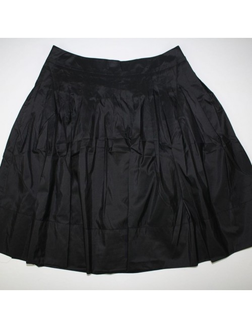TALBOTS womens black a line SILK skirt (12)