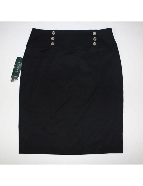 LAUREN RALPH LAUREN womens black skirt