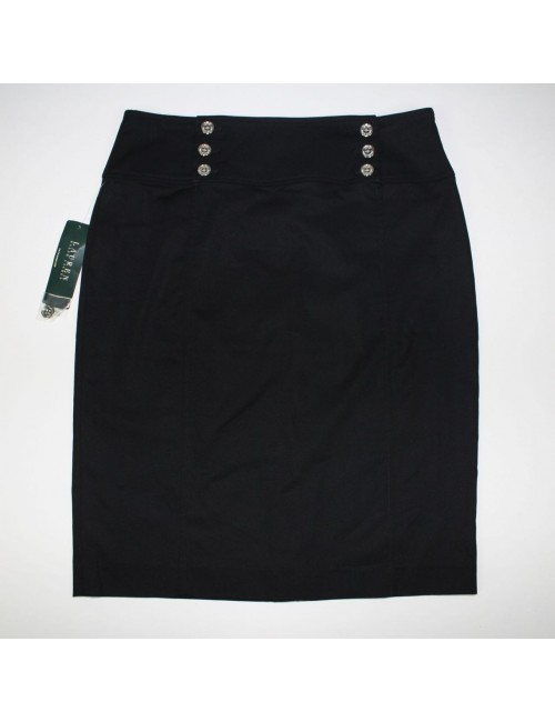 LAUREN RALPH LAUREN womens black skirt