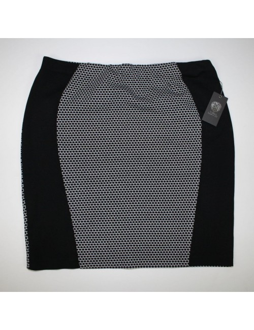 VINCE CAMUTO womens black/white stretchy skirt (XL)
