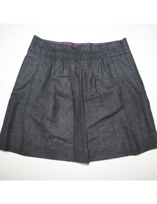 J.CREW womens gray wool mini skirt (2)