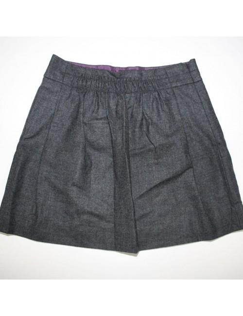 J.CREW womens gray wool mini skirt (2)