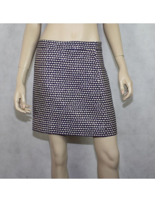 J.CREW postage stamp mini skirt in navy tweed Size 8