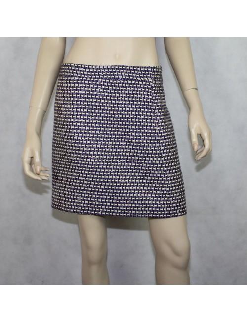 J.CREW postage stamp mini skirt in navy tweed Size 8