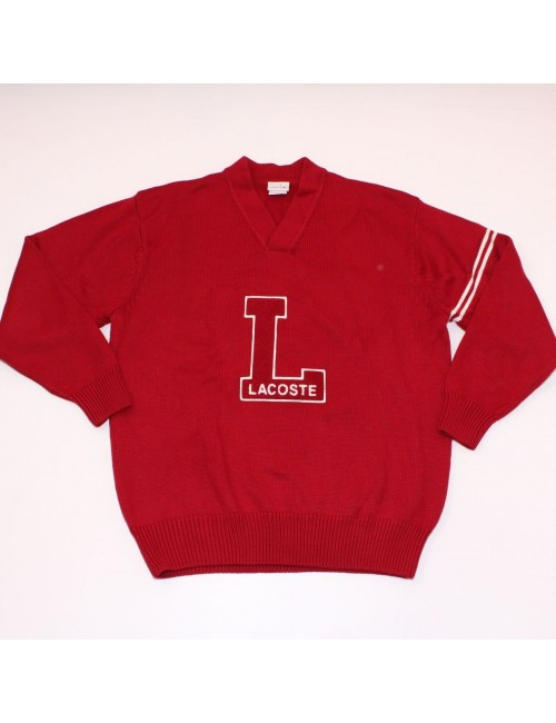 LACOSTE LIVE Collection mens red wool sweater!