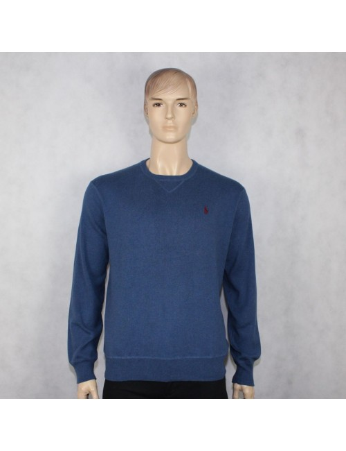 POLO RALPH LAUREN mens blue crewneck sweater (XL)