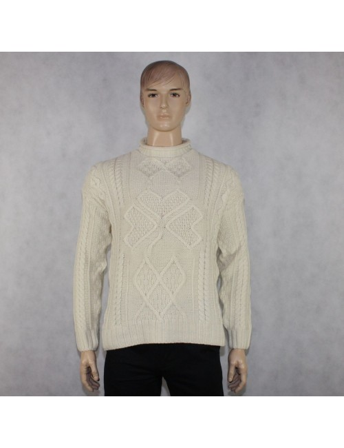 ARANCRAFTS IRELAND mens 100% merino wool sweater (S)