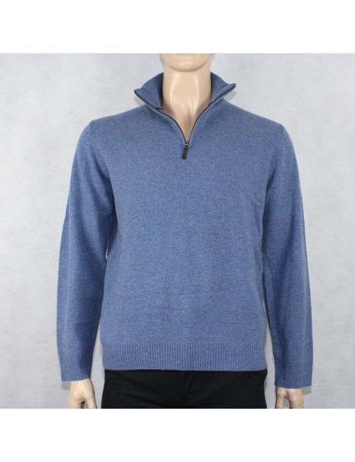 J.CREW Light Blue Lambs Wool Half zip Sweater (L)