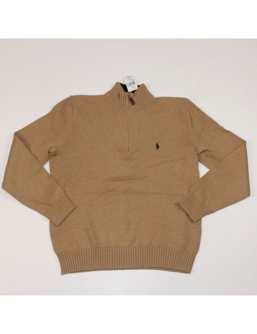 POLO BY RALPH LAUREN mens cotton half-zip sweater (size M)