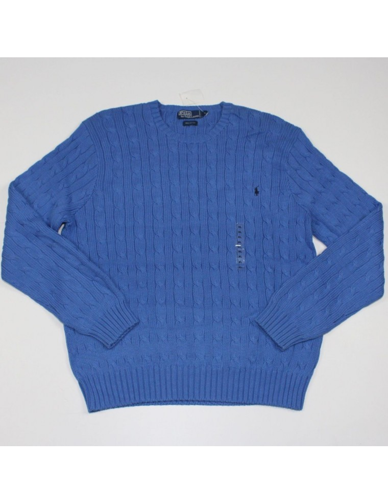 polo by ralph lauren blue pullover crew neck sweater size. Black Bedroom Furniture Sets. Home Design Ideas
