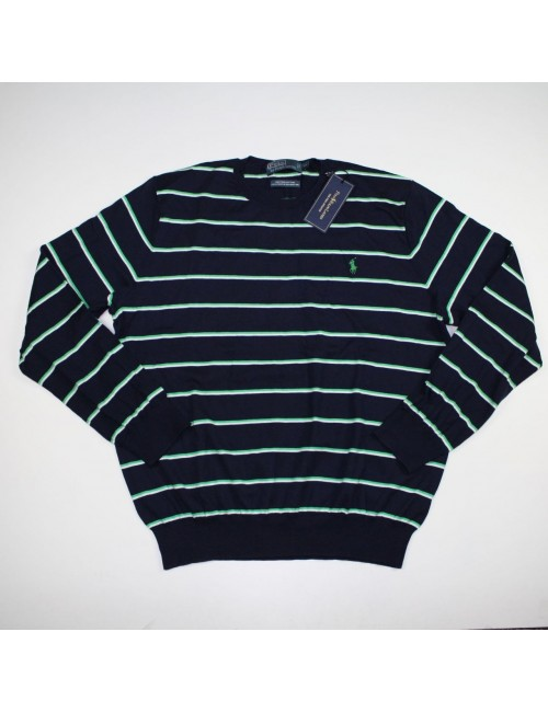 POLO BY RALPH LAUREN striped pima sweater Size XL