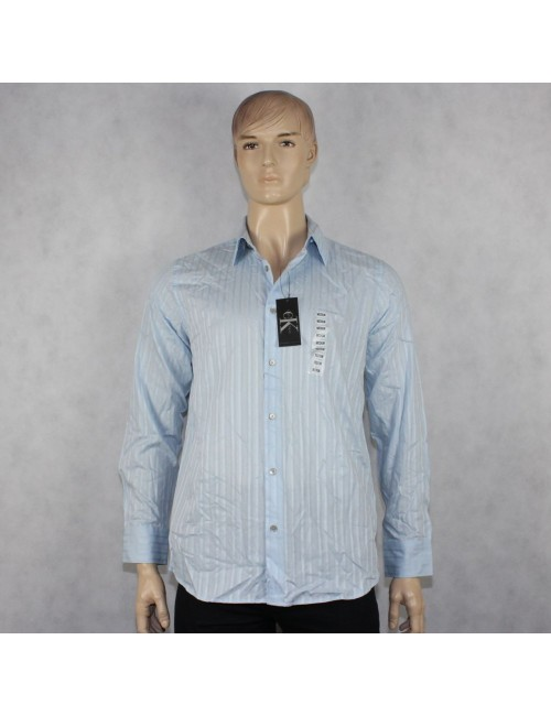 CALVIN KLEIN Summer Sky Striped Men's Shirt! (M) NWT!