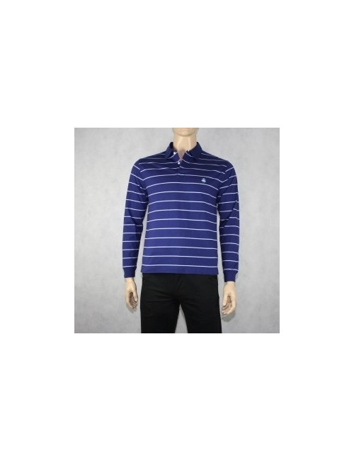 Brooks Brothers 346 Blue Cotton Polo Shirt Size M