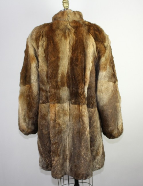 POLO NORTE FURS womens real fur coat