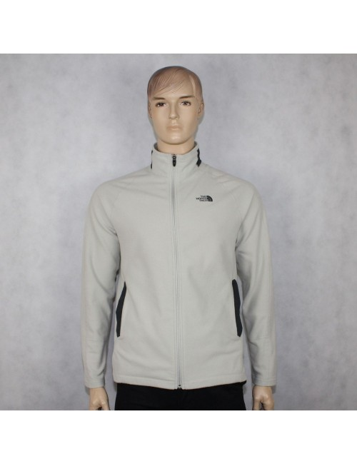 THE NORTH FACE mens gray RDT 100 full zip fleece jacket (L)