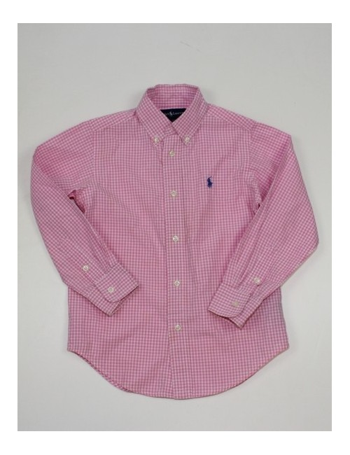 RALPH LAUREN boys plaid button down shirt