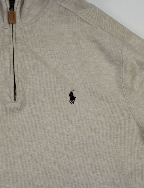 RALPH LAUREN mens 1/4 zip sweatshirt