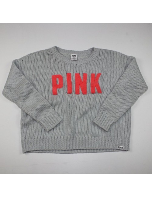 PINK VICTORIA'S SECRET gray sweater Size L