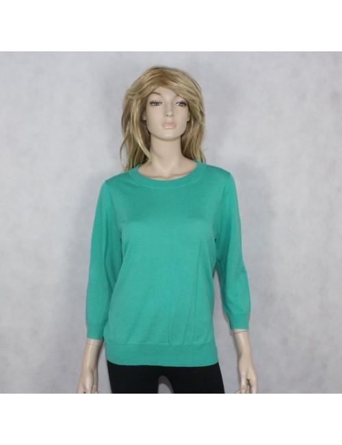 J.CREW womens turquoise merino wool sweater size L