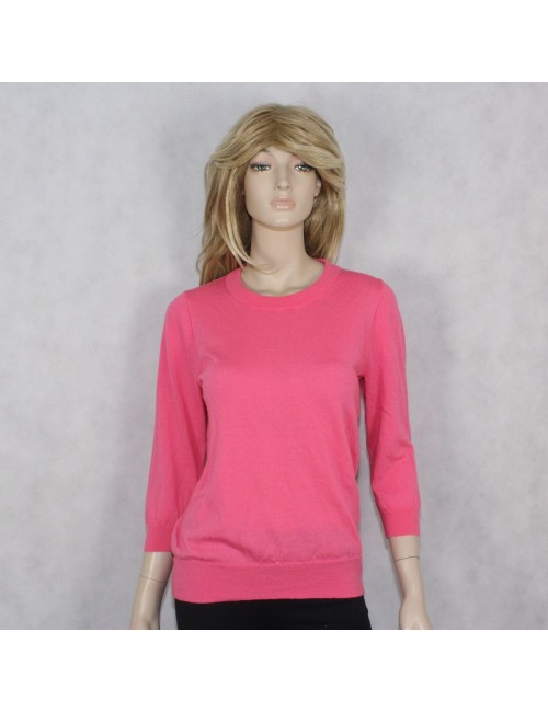 J.CREW womens pink merino wool sweater (size L)