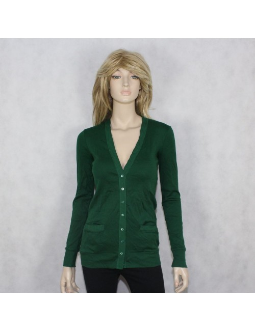 J.CREW womens green cardigan sweater PERFECT FIT (XS) NWT
