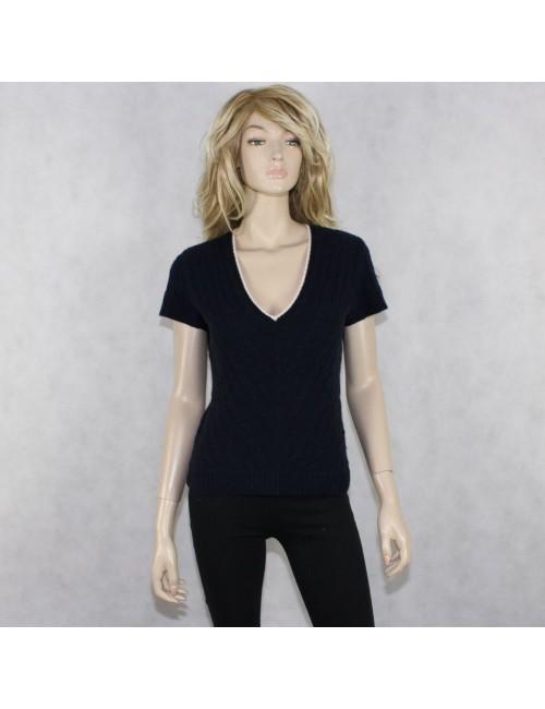 RALPH LAUREN BLACK LABEL womens cashmere v-neck sweater (size L)