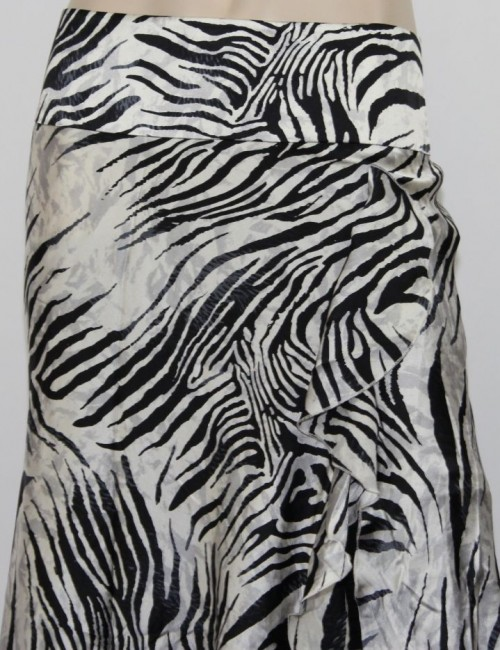 MARCIANO womens asymmetrical animal print skirt